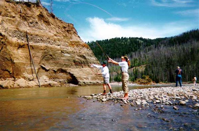 flyfishing Yellowstone backcountry