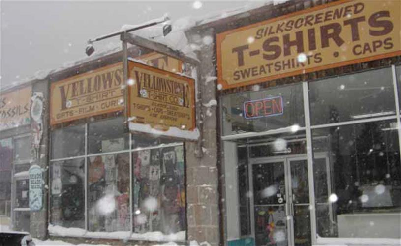 exterior of store in winter
