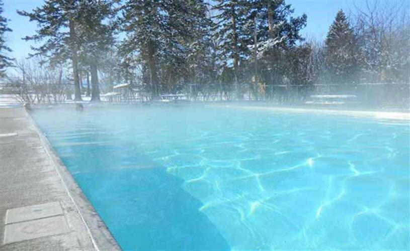 winter view of pool