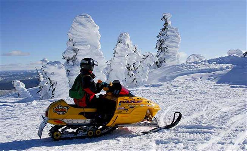 Two Top snowmobiling