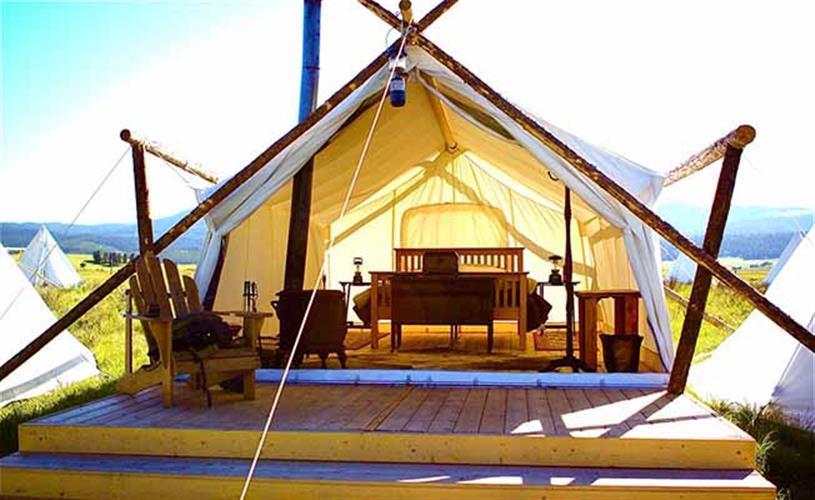 interior safari tent