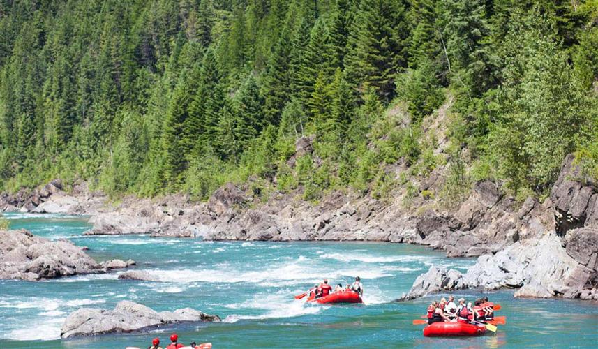 Rafting on a Pristine Glacial River