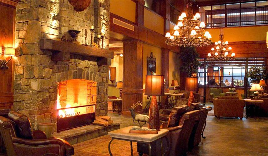 Main Lodge Lobby & Fireplace