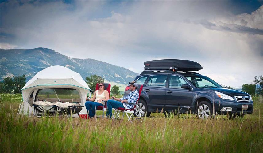 Cars and camping gear