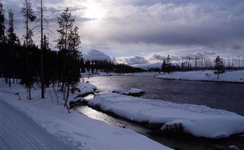 winter scenic by river