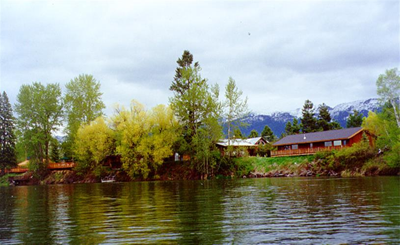 cabins from the river
