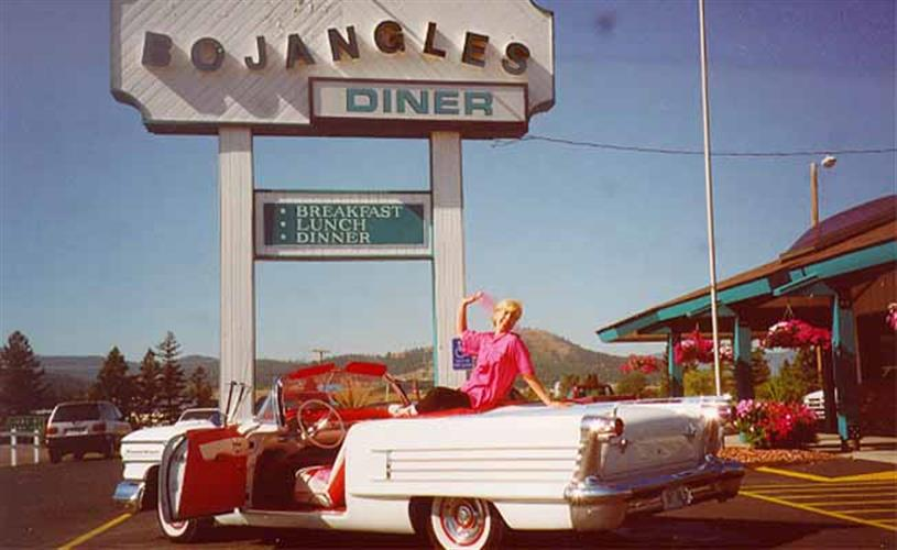 sign & car w/girl