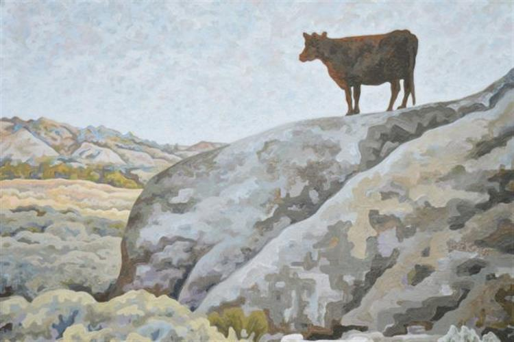 Painting by Dale Beckman is on display at the Myrna Loy