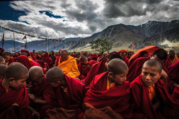 """Jeff Van Tine captures young Tibetan monks for the Holter exhibit, """"The Art of Healing"""""""