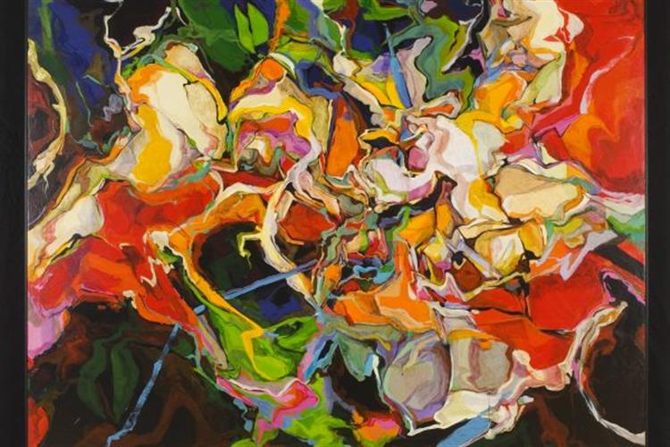 Composition in Oil by Missoula artist George Gogas
