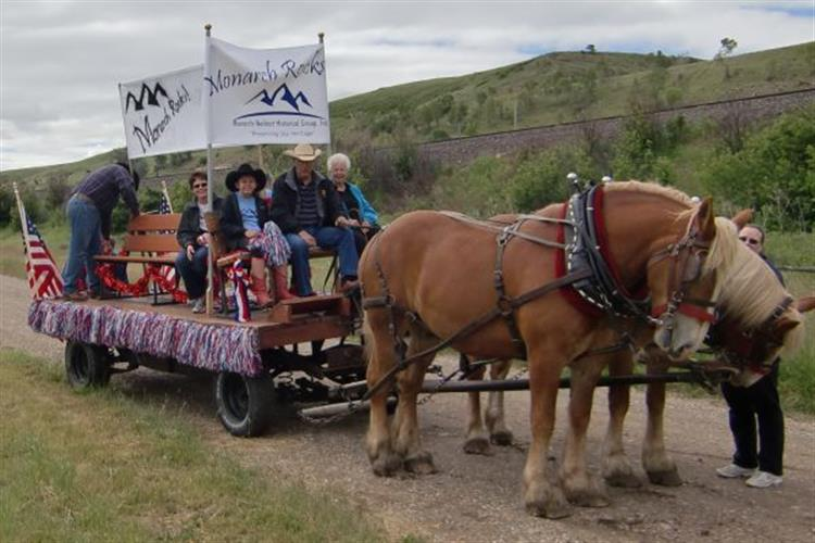 Horse drawn wagon rides available