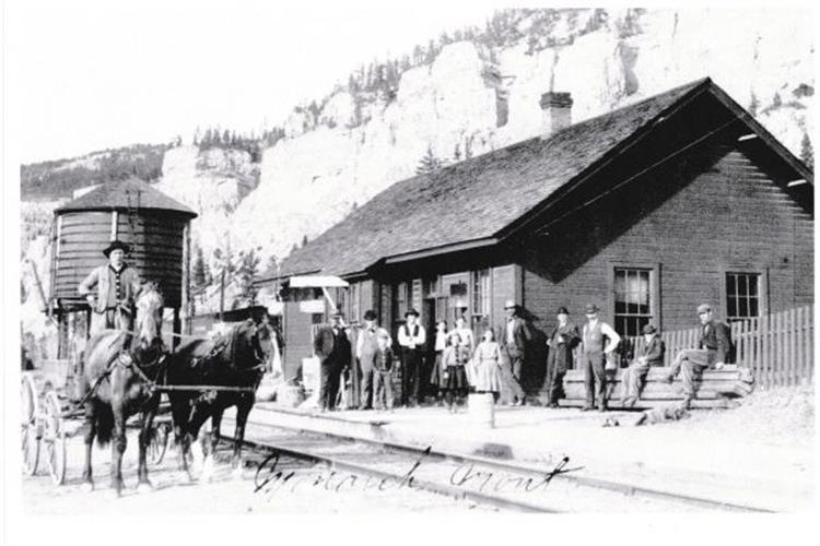 The first depot built in 1890 burned in 1900.