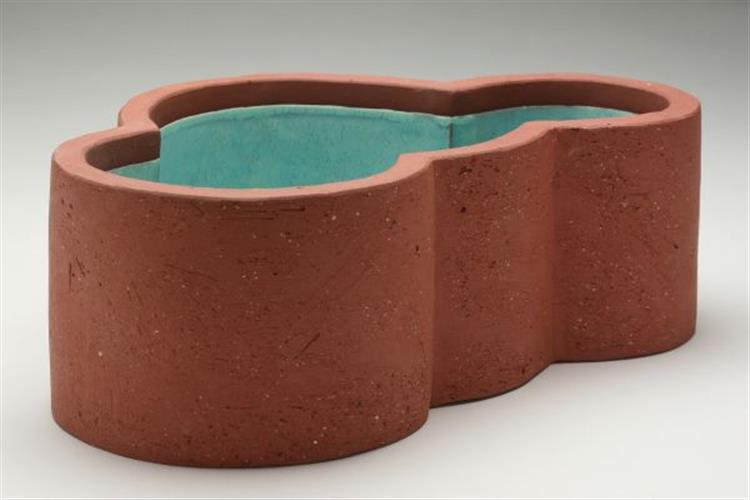 brick pool 6, hand-built earthenware, 12 x 8 x 4,