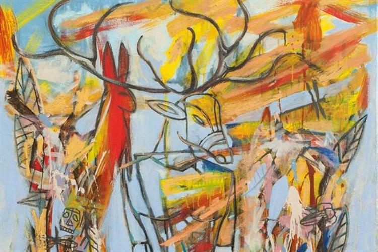 Jaune Quick-to-See Smith exhibits at the Yellowstone Art Museum in Billings