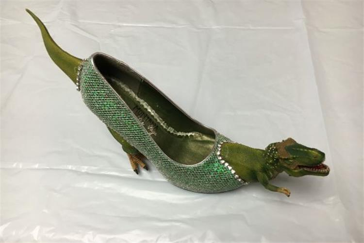 These Dinosaur shoes of Danielle Wineman, Miss Montana 2016, were quite a hit at the Miss America's Show Us Your Shoes  Parade in Atlantic City, NJ.  She also wore them in Glendive's Show us Your Shoes Parade.