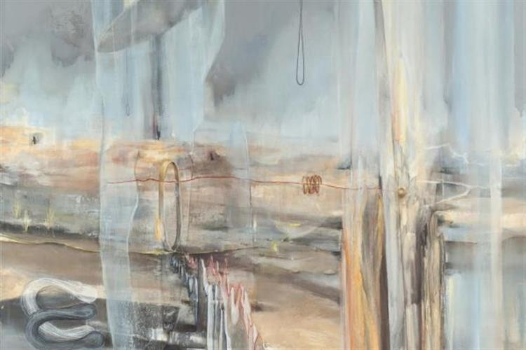 Lindsay Carrell's paintings are on display at CTA Architects and Engineers.