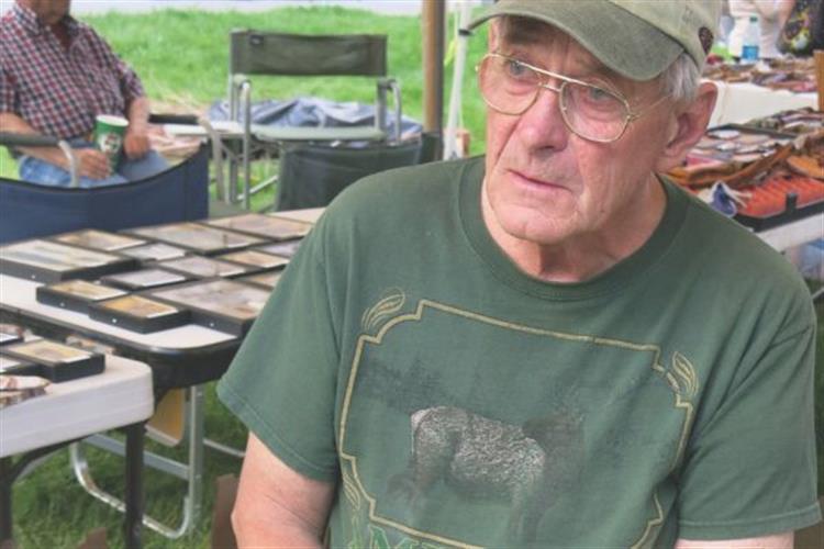 Flint knapper Ray Alt   the namesake for Living History Day.